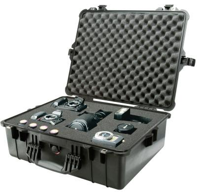 PELICAN Large Protector Cases, 1600 Case, 16 1/2 in x 7.87 in x 21.43 in, Black