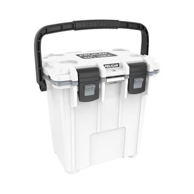 PELICAN 20QT Elite Coolers, 21.5 qt, 12.6 in x 18.8 in x 17.7 in, White/Gray