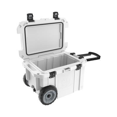 PELICAN 45QW Elite Wheeled Coolers, 45 qt,  20 in x 29.66 in x 19.25 in, White