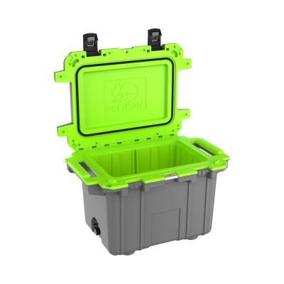 PELICAN 50QT Elite Coolers, 52.87 qt, 20.3 in x 30 in x 20.4 in, Dark Gray/Green