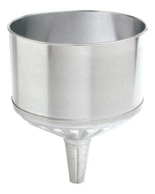 PLEWS Funnels, 8 qt, Galvanized Steel, 9 1/2 in dia.