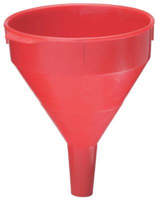PLEWS Plastic Funnel, 2 qt Capacity, 7 in dia, 1 in OD Tip