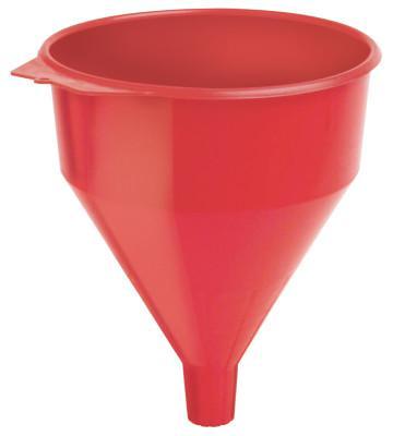 PLEWS Plastic Funnel, 6 qt Capacity, 9 in dia, 1-1/2 in OD Tip
