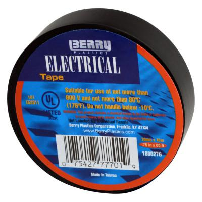 BERRYMAN PRODUCTS Electrical Tapes, 60 ft x 3/4 in, Black