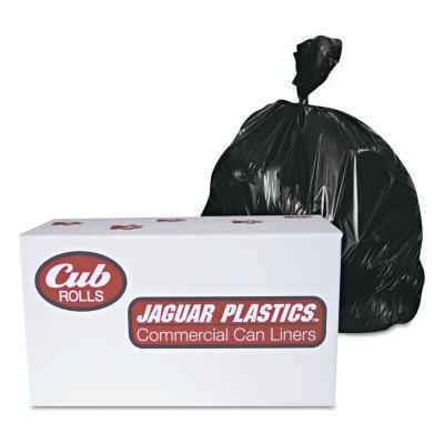 JAGUAR PLASTICS Industrial Drum Liners, 60 gal, 1.8 mil, 38 X 63, Clear