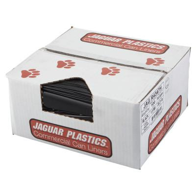 JAGUAR PLASTICS Repro Low-Density Can Liners, 2 mil, 33w x 39h, Black