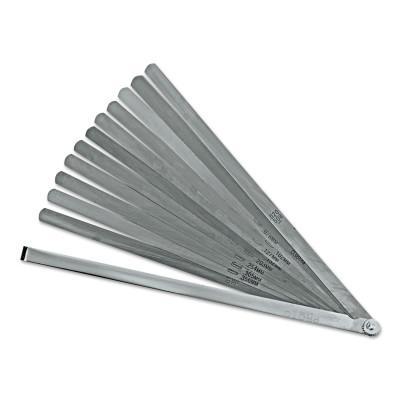 PROTO 12 Blade Long Feeler Gauge Set, 12 in L, Inch/Metric