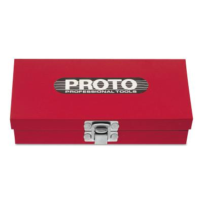 PROTO Set Boxes, W x 8 in D x H, Steel, Red