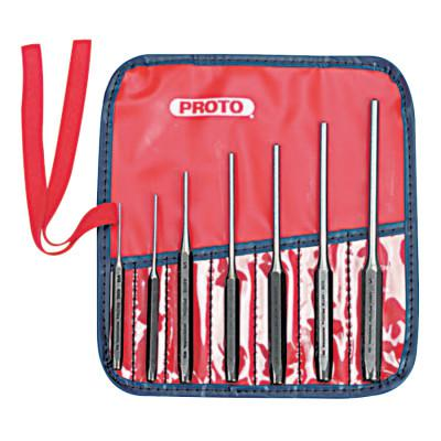 PROTO 7 Piece Roll Pin Punch Sets, 1/16 in - 1/4 in Round, Kit Pouch