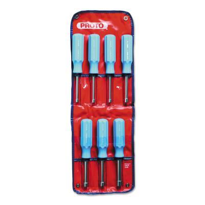 PROTO Metric Nut Driver Sets, 5 mm; 5.5 mm; 6 mm; 7 mm; 8 mm; 9 mm; 10 mm
