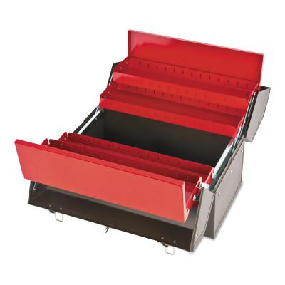PROTO Cantilever Tool Boxes, 10 in D, Steel, Red/Brown