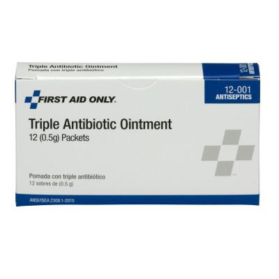 FIRST AID ONLY Triple Antibiotic Ointment, 0.5 g Individual Use Packets