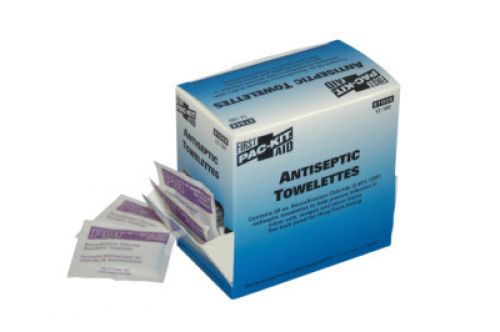 FIRST AID ONLY Benzalkonium Chloride Antiseptic Towelettes, 50 per box