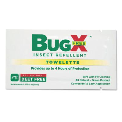 FIRST AID ONLY BugX DEET Free Insect Repellent Towelette, 5 mL, BX/100