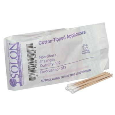 FIRST AID ONLY Cotton Tipped Applicators, 3 in, 100 per bag