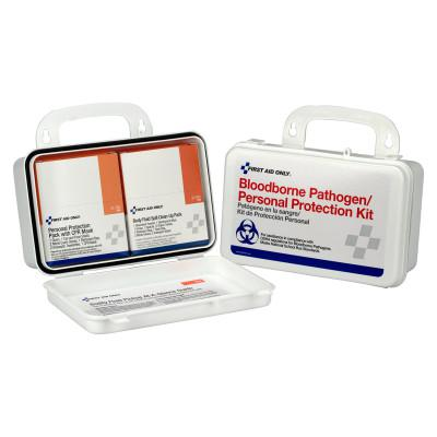FIRST AID ONLY Bloodborne Pathogen and CPR Kits, Weatherproof Plastic, 28 Pieces, Wall Mount