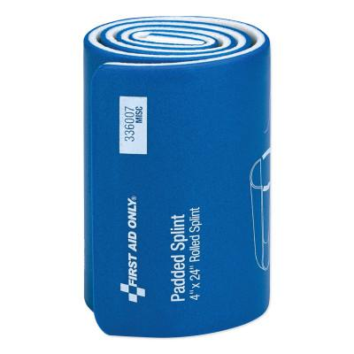 FIRST AID ONLY Padded Splint, 4 in x 24 in, Blue/White