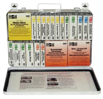 FIRST AID ONLY 36 Unit Steel First Aid Kits, Weatherproof Steel, Wall Mount