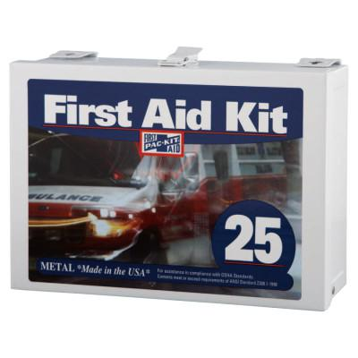 FIRST AID ONLY 25 Person Industrial First Aid Kits, Steel (non-gasketed), Wall Mount