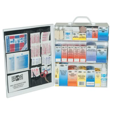 FIRST AID ONLY 3-Shelf Industrial First Aid Stations, Steel, Wall Mount