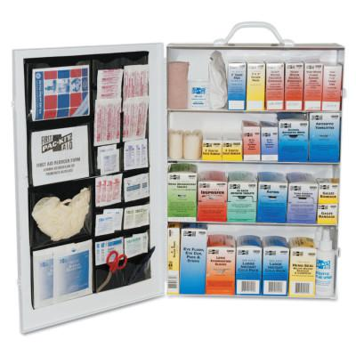 FIRST AID ONLY 4-Shelf Industrial First Aid Stations, Steel, Wall Mount