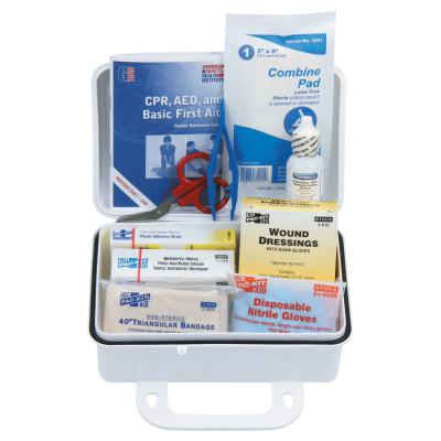 FIRST AID ONLY 10 Person ANSI Plus First Aid Kits, Weatherproof Plastic, Wall Mount