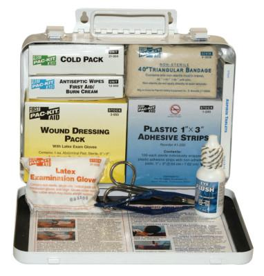 FIRST AID ONLY 25 Person Vehicle First Aid Kits, Weatherproof Steel, Wall Mount