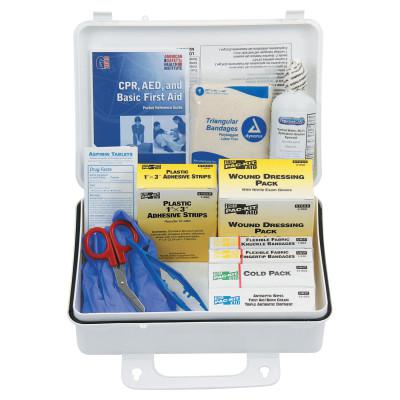 FIRST AID ONLY 25 Person ANSI Plus First Aid Kits, Weatherproof Plastic, Wall Mount
