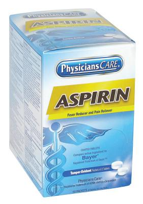 FIRST AID ONLY PhysiciansCare Aspirin, 325 mg, 100 per box