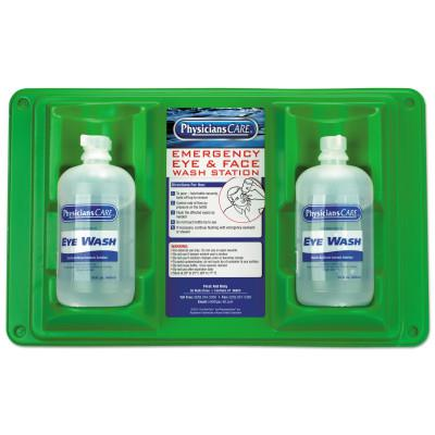 FIRST AID ONLY Wall Mountable Eyewash Stations, Double 16 oz. Bottles, 6 per case