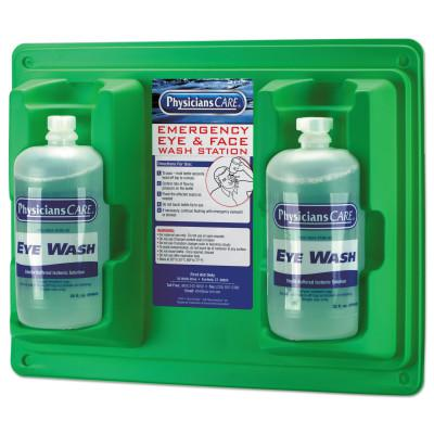 FIRST AID ONLY Wall Mountable Eyewash Stations, Double 32 oz. Bottles, 6 per case