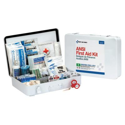 FIRST AID ONLY ANSI B Type III Weatherproof 50 Person Bulk First Aid Kits, Metal, Wall Mount