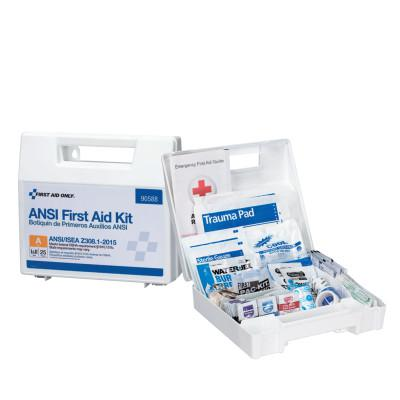 FIRST AID ONLY Bulk First Aid Kits, 25 Person, Plastic, Portable, Wall Mounted