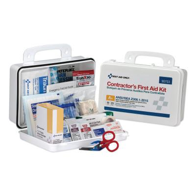 FIRST AID ONLY Contractor ANSI Class A+ First Aid Kit for 25 People, 128 Pieces