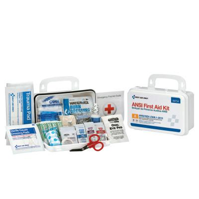 FIRST AID ONLY Bulk First Aid Kits, 10 Person, Plastic, Portable, Wall Mounted