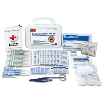 FIRST AID ONLY Contractor's First Aid Kits, 10 Person, Plastic, Portable; Wall Mounted