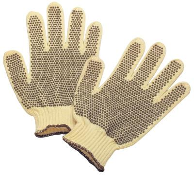 HONEYWELL Tuff-Knit Extra Gloves, DuPont Kevlar, Mens, Yellow