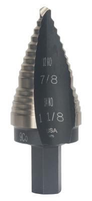 "3//16/""-1//2/"" Irwin 10232CB Unibit Step Drill Bit 6 Hole"
