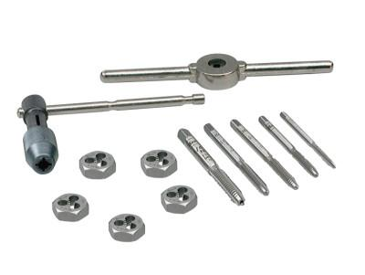 IRWIN HANSON 12-pc Machine Screw / Fractional Tap & Hex Die Set