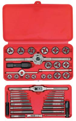 IRWIN HANSON 41-pc Machine Screw/Fractional Tap and Hex Die Set