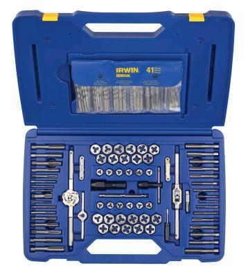 IRWIN HANSON 117-pc Machine Screw/Fractional/Metric Tap & Hex Die and Drill Bit Deluxe Set