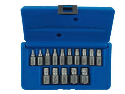 IRWIN HANSON Hex Head Multi-Spline Screw Extractors - 532 Series - Plastic Case Sets