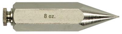 IRWIN STRAIT-LINE Hexagon Plumb Bobs, 8 oz, Steel
