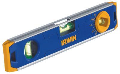 IRWIN 150 Series Magnetic Torpedo Levels, 9 in, 3 Vials