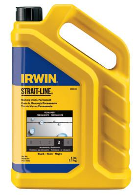 IRWIN STRAIT-LINE Permanent Staining Marking Chalks, 5 lb, Permanent Black