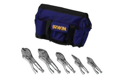 IRWIN VISE-GRIP The Original™ 5-Pc Locking Pliers Sets with Tool Bag, 5 in; 6 in; (2) 10 in;