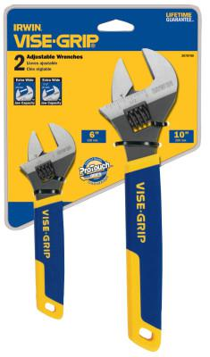 IRWIN VISE-GRIP 2-pc Adjustable Wrench Sets,  6 in; 10 in Long