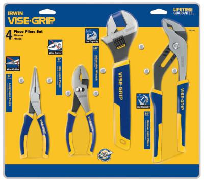 IRWIN VISE-GRIP 4-pc ProPlier Sets, 6in Long Nose/6in Slip Joint/10in Pliers/Tray