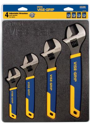 IRWIN VISE-GRIP 4-pc Adjustable Wrench Tray Sets, 6/8/10/12 in Adj Wrench, Tray