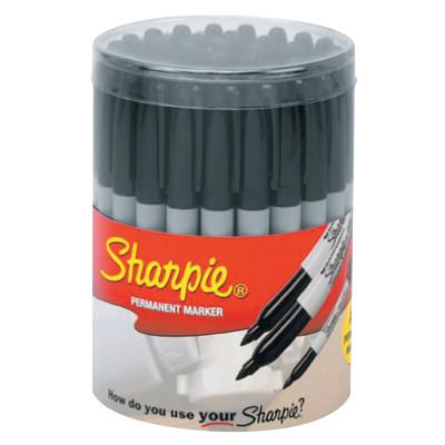 SHARPIE 36-Piece Sharpie Canisters, Black, 36 per canister